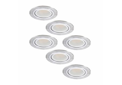 INTOLED Set of 6 LED downlights Chandler 3 Watt tiltable