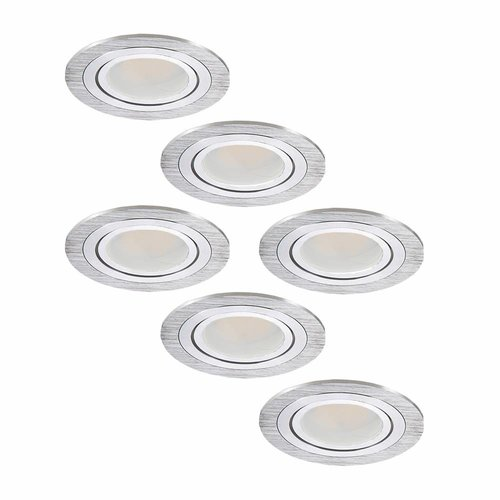 INTOLED LED Einbaustrahler set 6 Stück Chandler 3 Watt Kippbar
