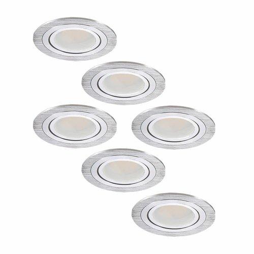 Set van 6 stuks LED inbouwspots Chandler met 5 Watt kantelbaar