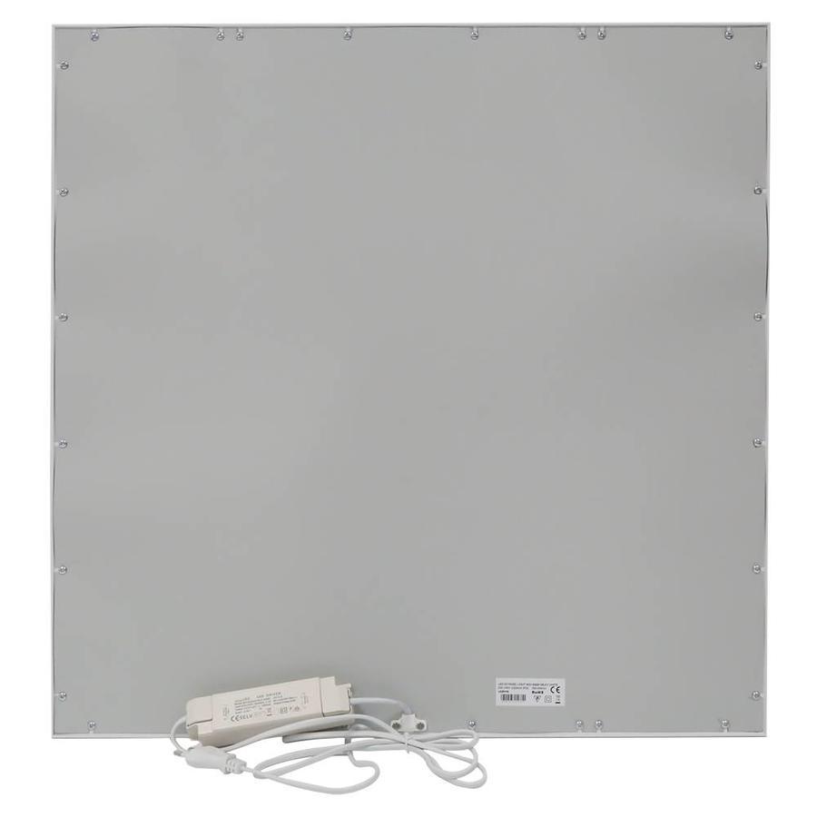 LED paneel 60x60 cm 40W 3600lm 3000K Flikkervrij incl. 1,5m netsnoer en 5 jaar garantie
