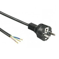 Power cord 1,5m 220V 3x0,75 mm² incl. plug with grounded earth