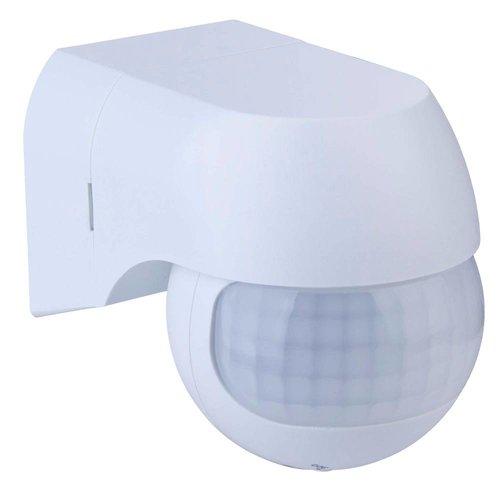 PIR bewegingssensor 180° bereik 12 meter Maximaal 400 Watt opbouw kleur wit IP44