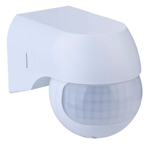 PIR motion sensor 180° range 12 meter Maximum 400 Watt surface mounted color white IP44