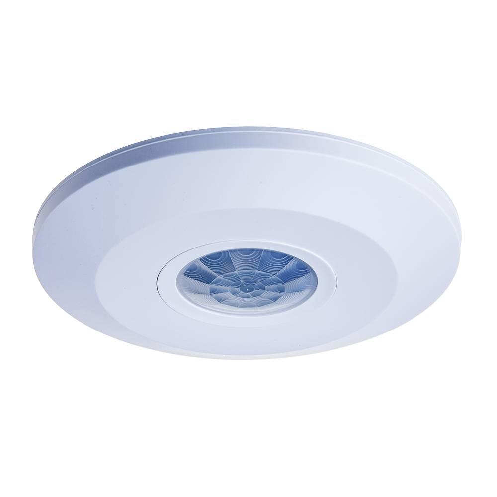 PIR bewegingssensor 360° bereik 6 meter Maximaal 1000 Watt IP20 opbouw kleur wit