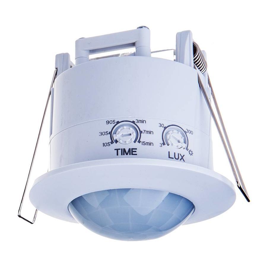PIR motion sensor 360° range 6 meter Maximum 300 Watt IP20 recessed color white