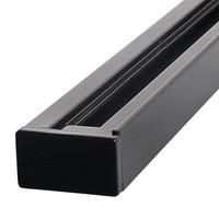 Aluminium Track light rail 1 meter 2 Fase zwart