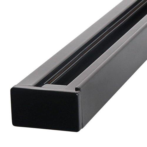 Aluminium Track Lichtschiene 1 Meter 1 Phase Schwarz