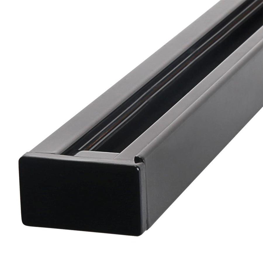 Aluminum Track light rail 1 meter 2 Phase Black