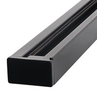Aluminum Track light rail 2 meter 2 Phase Black