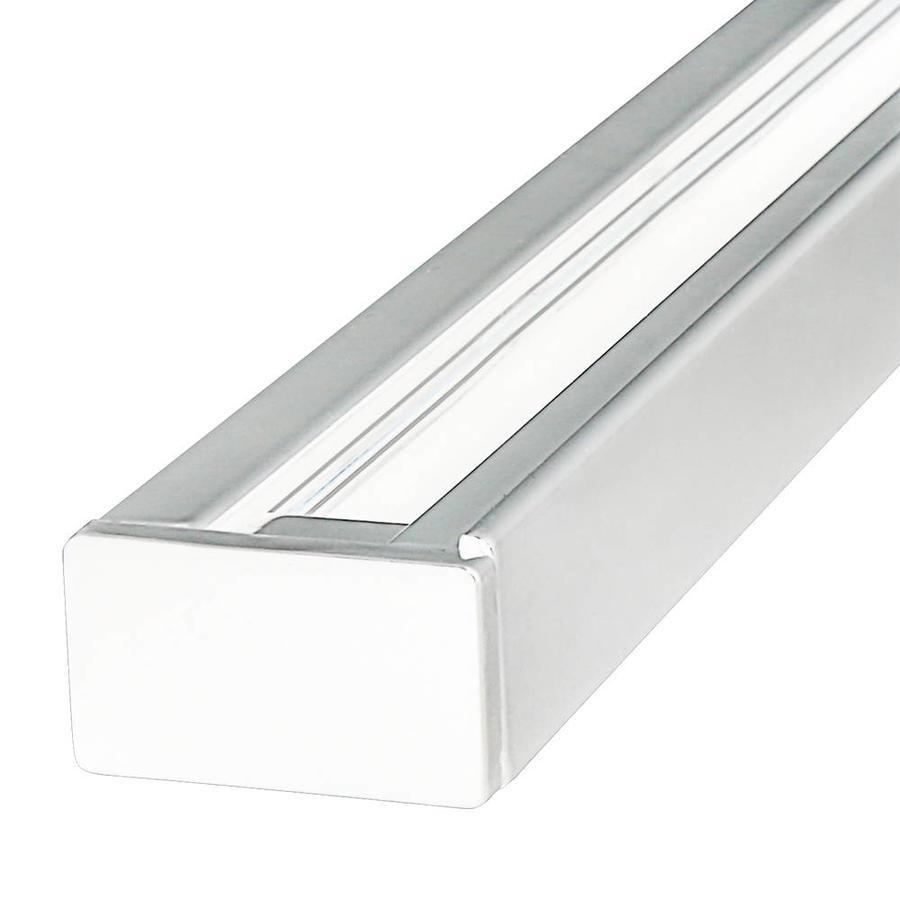 Aluminium Track light rail 1 meter 2 Fase wit