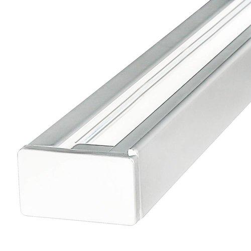 Aluminum Track light rail 2 meter 1 Phase white Black white