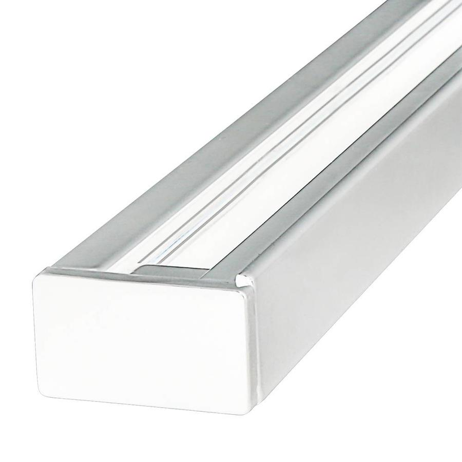 Aluminium Track light rail 2 meter 2 Fase wit