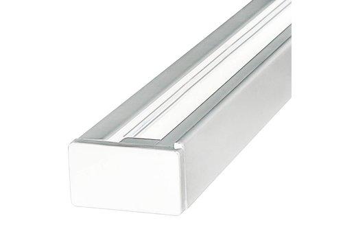 Aluminium Track light rail 1 meter 3 Fase wit