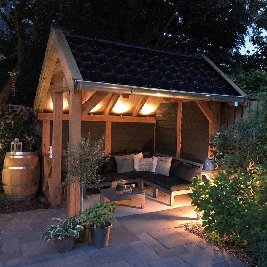 Complete veranda set 12x3W dimbare Madrid LED inbouwspots  IP44 spatwaterdicht