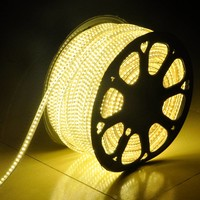 LED-Lichtschlauch 50 Meter 3000K warmweiß 60 LEDS pro Meter IP65 inkl. Netzkabel Plug & Play