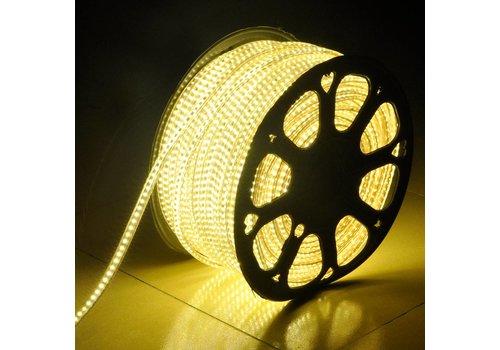 LED Lichtslang plat 50m kleur 3000K 60 LEDs/m IP65 Plug & Play per 1m in te korten