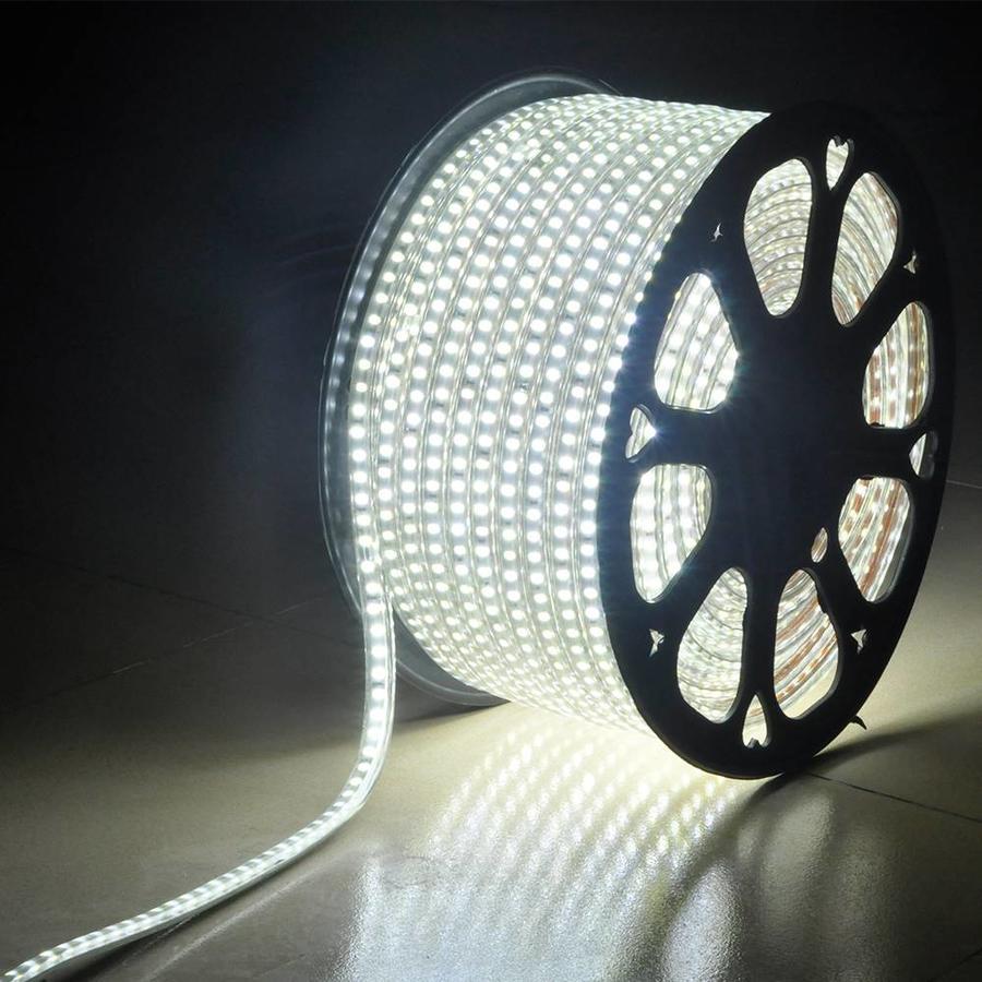LED Lichtslang 50 meter 6000K daglicht wit 60 LEDs per meter IP65 incl. netsnoer Plug & Play