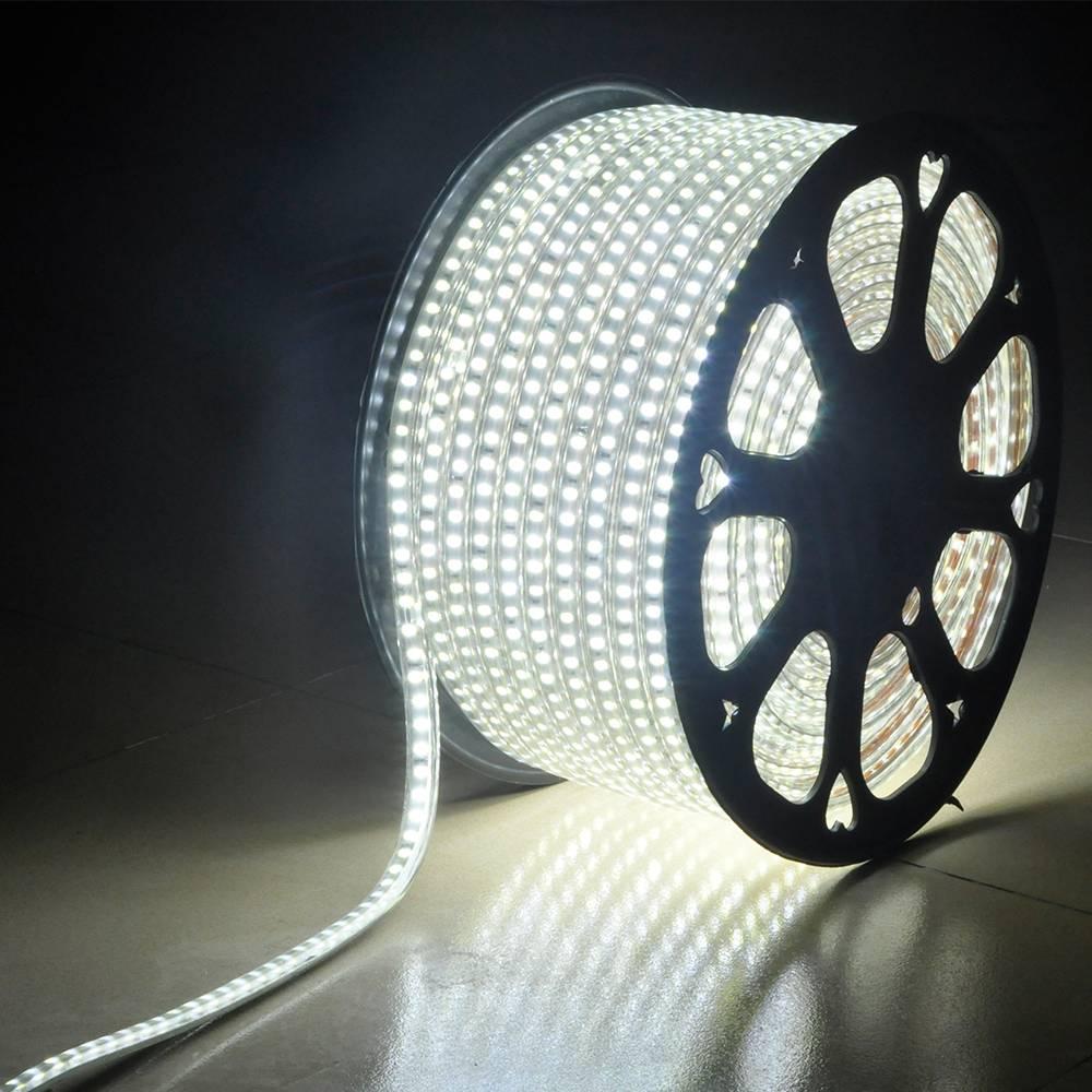 Dagaanbieding - LED Lichtslang 50 meter 6000K daglicht wit 60 LEDs per meter IP65 incl. netsnoer Plug en Play dagelijkse koopjes