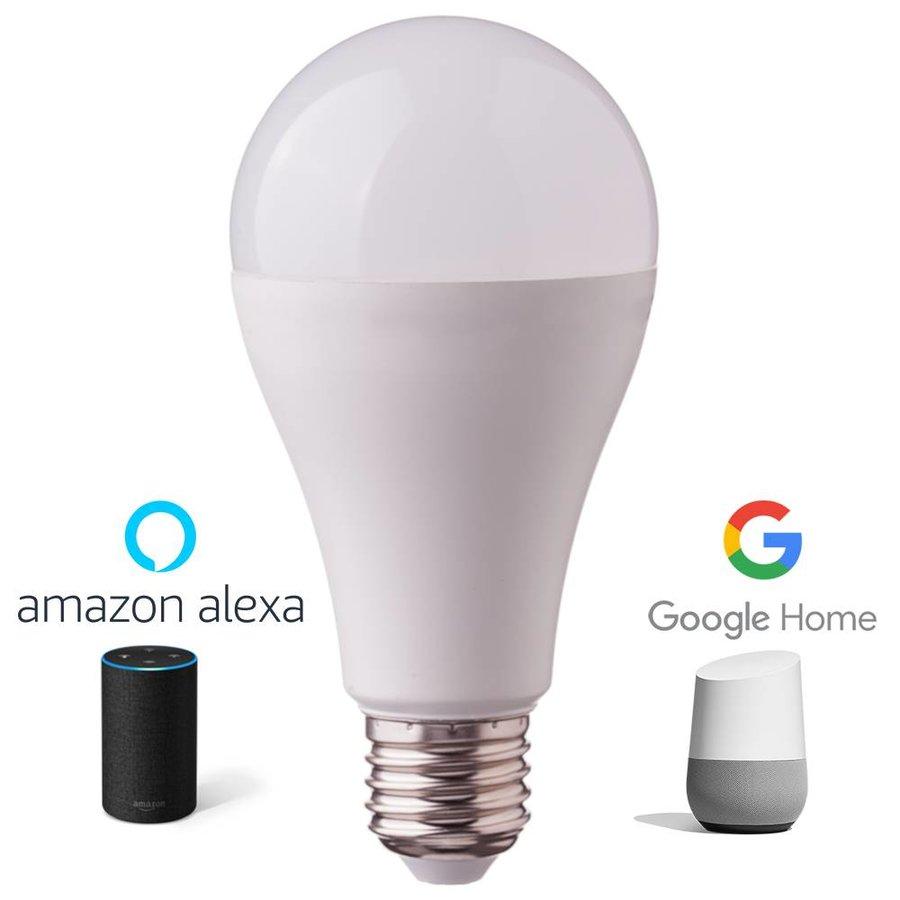 E27 LED Lamp 9 Watt 3000K + RGB A60 Vervangt 60 Watt Dimbaar compatibel met Amazon Alexa en Google Home