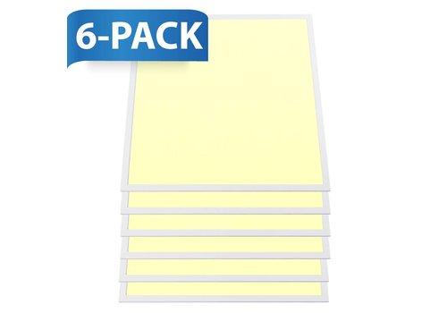 INTOLED LED paneel 60x60 cm 36W 4320lm 3000K incl. trafo 5 jaar garantie 6 stuks