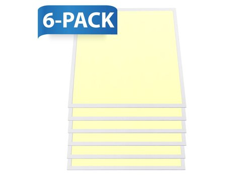INTOLED LED-Panel 60x60 cm 36W 4320lm 3000K inkl. Trafo 5 Jahre Garantie 6 Stück