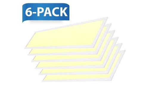 INTOLED LED panel 120x30 cm 36W 4320lm 3000K incl. driver 5 years warranty 6 pieces