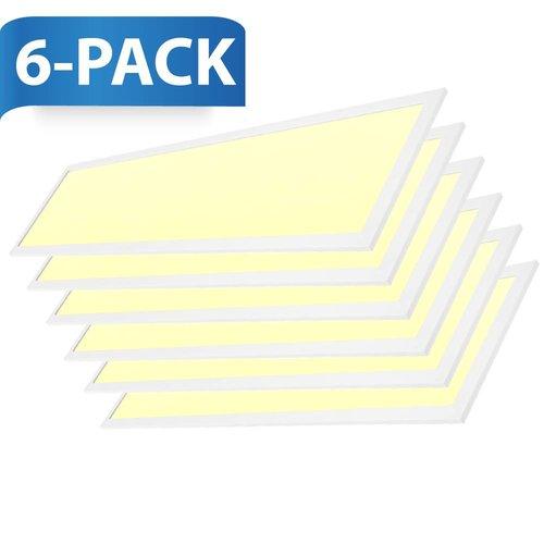 INTOLED LED-Panel 120x30 cm 36W 4320lm 3000K inkl. Trafo 5 Jahre Garantie 6 Stück
