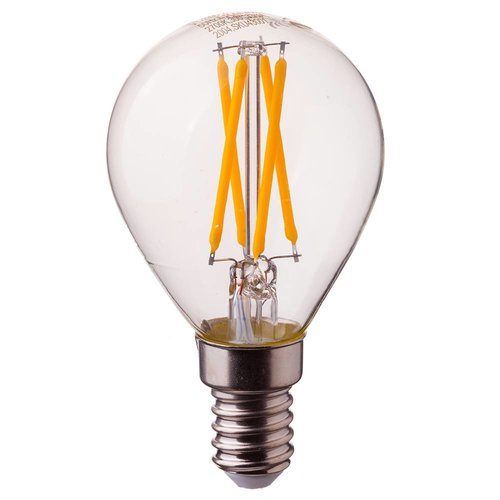 LED filament bulb P45 with E14 fitting 4 Watt 400lm extra warm white 2700K