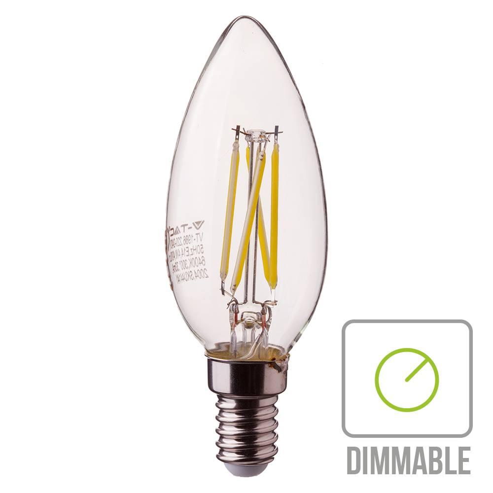 LED gloeilamp dimbaar E14 2700K 4 Watt A+