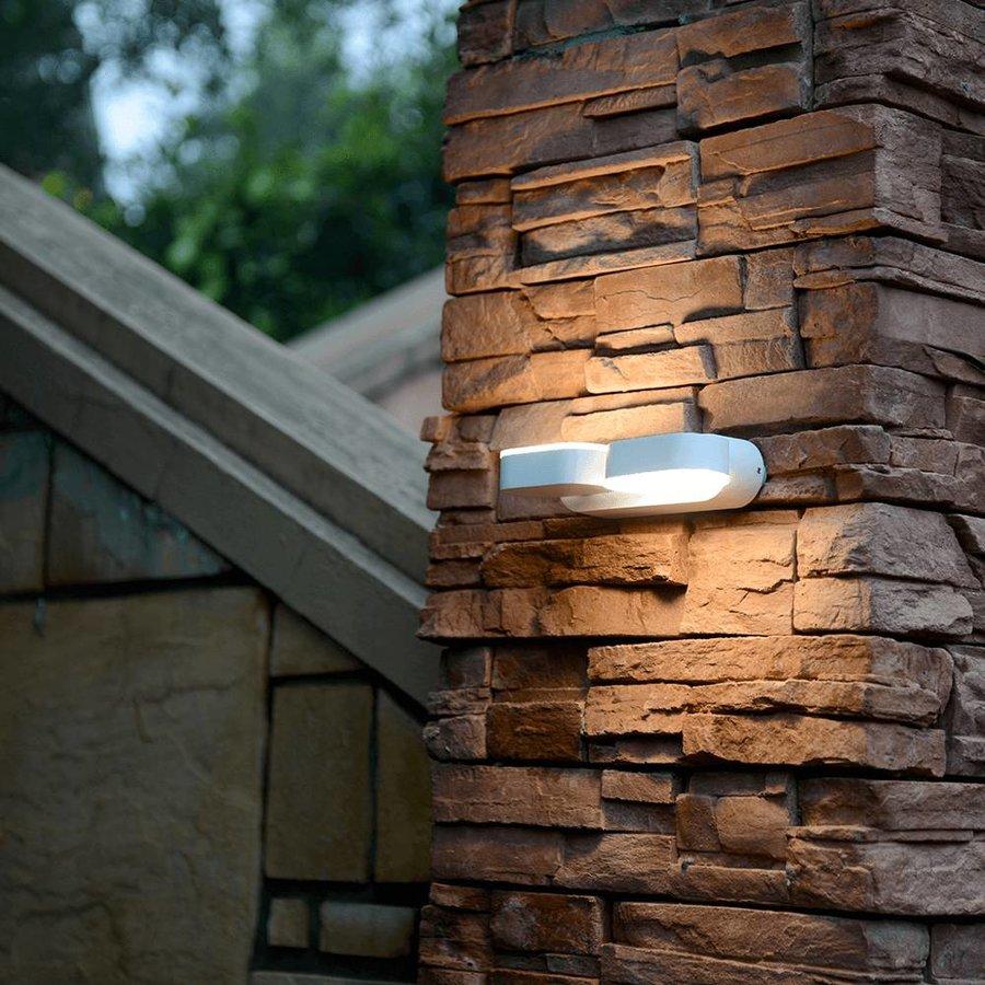 LED wandlamp kantelbaar in de kleur wit 12 Watt 3000K warm wit IP65 waterdicht