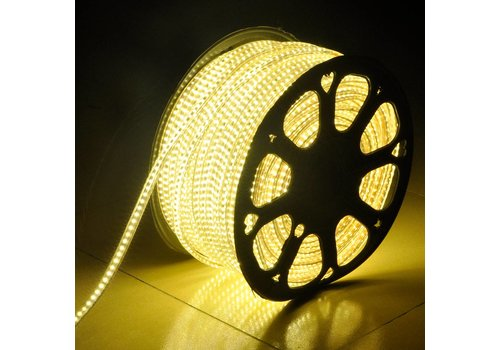 LED Lichtschlauch flach 50m Farbe 3000K 180 LEDs/m IP65 Plug & Play schnitt pro Meter