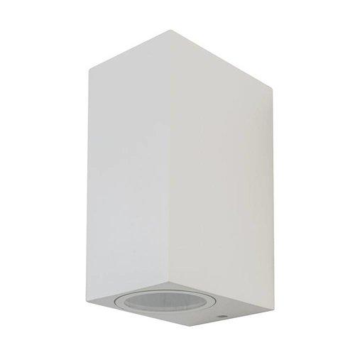 V-TAC Tweezijdig Oplichtende Buitenlamp Wand Vierkant Wit GU10 IP44