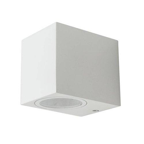 V-TAC Wandleuchte GU10 Weiß Aluminium IP44