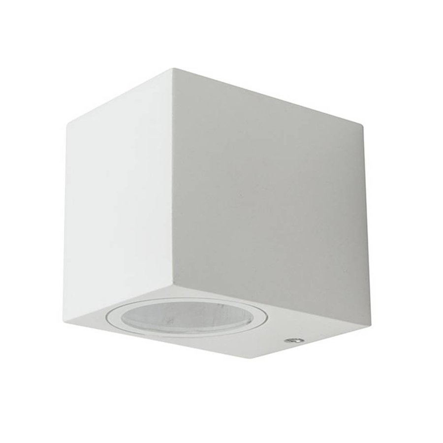 Wandleuchte GU10 Weiß Aluminium IP44