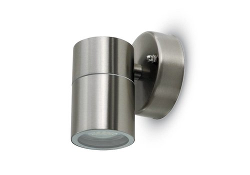 Wall light stainless steel Round GU10 IP44