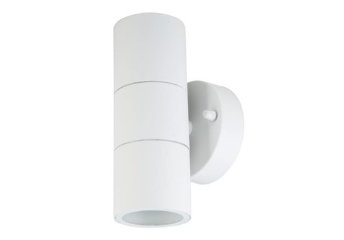 Wall light GU10 Round White Aluminum IP44