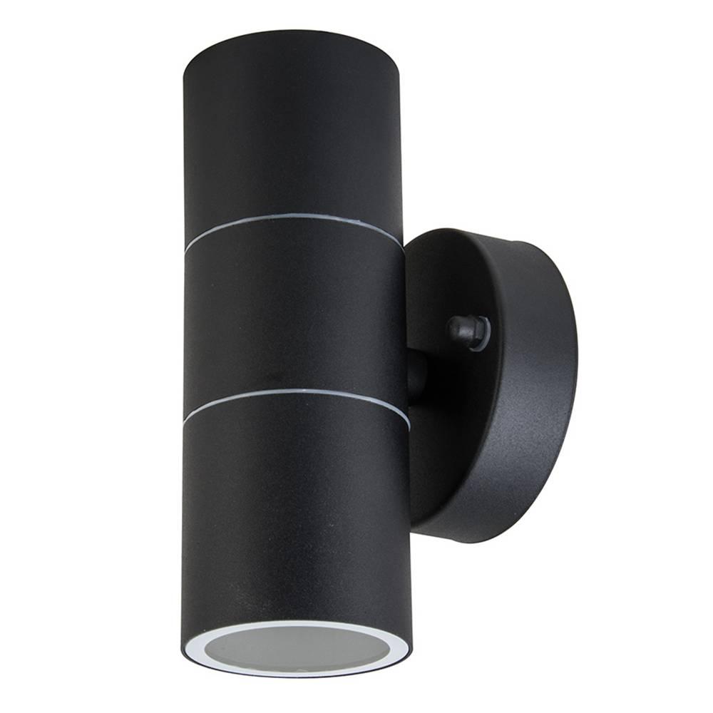 Dagaanbieding - Wandlamp GU10 Rond Zwart Aluminium IP44 dagelijkse koopjes