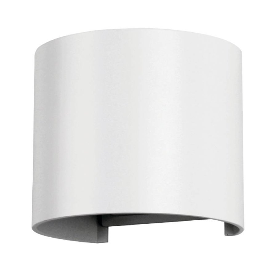 LED Wandlamp 6 Watt 3000K 660lm IP65 Wit Rond