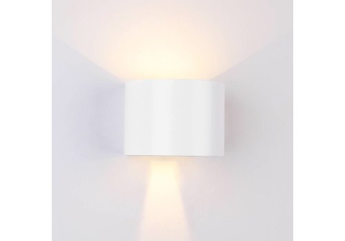 LED Wall Light 6 Watt 3000K 660lm IP65 White Round
