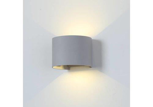 V-TAC LED Wall Light 6 Watt 3000K 660lm IP65 Grey Round