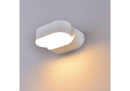 LED Wandleuchte Kippbar Farbe Weiß 6 Watt 3000K IP65 Wasserdicht