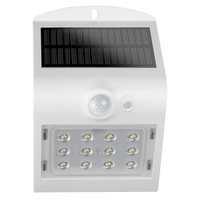 LED Solar Wandlamp Wit 1,5 Watt 4000K Neutraal wit met bewegingssensor