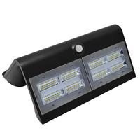 LED Solar Lamp Black 7 Watt 4000K Neutral white with motion sensor