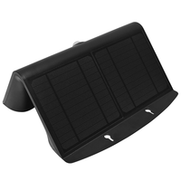 LED Solar Wandlamp Zwart 7 Watt 4000K Neutraal wit met bewegingssensor
