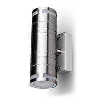 Wall light GU10 Round stainless steel IP44