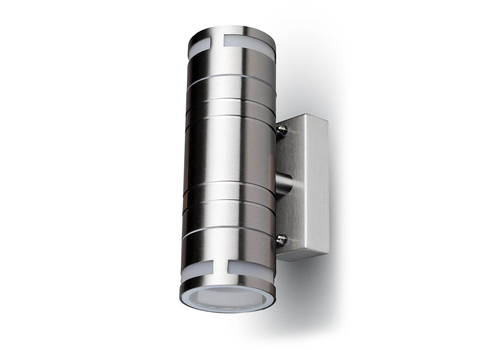 Wall light GU10 Round stainless steel IP44
