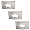 Set of 3 dimmable LED downlights New York 5 Watt with Philips spot IP44 [waterproof]