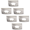 INTOLED Set of 6 dimmable LED downlights New York 5 Watt with Philips spot IP44 [waterproof]