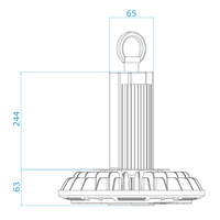 LED High bay 200W 6000K IP65 150lm/W Powered by Philips 50,000 hours lifespan and 5 years warranty