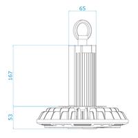 LED Highbay 150W dimmbar 4000K IP65 150lm/W 120° 5 Jahre Garantie